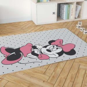 שטיח דקורטיבי גדול ומפנק לחדר ילדים – דגם מיני מאוס נקודות