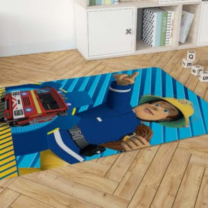 שטיח דקורטיבי גדול ומפנק לחדר ילדים – דגם סמי הכבאי